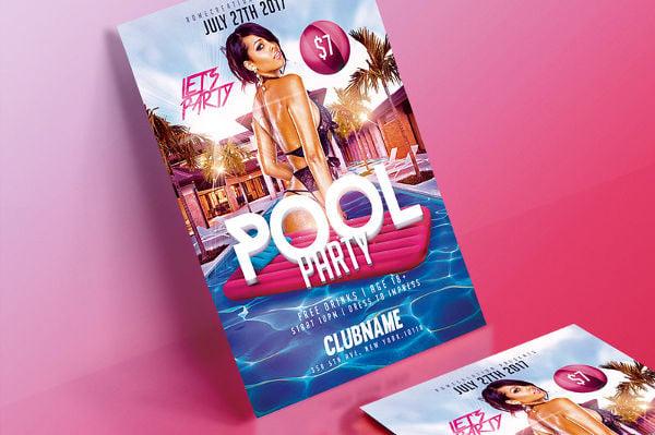 splash pool party flyer