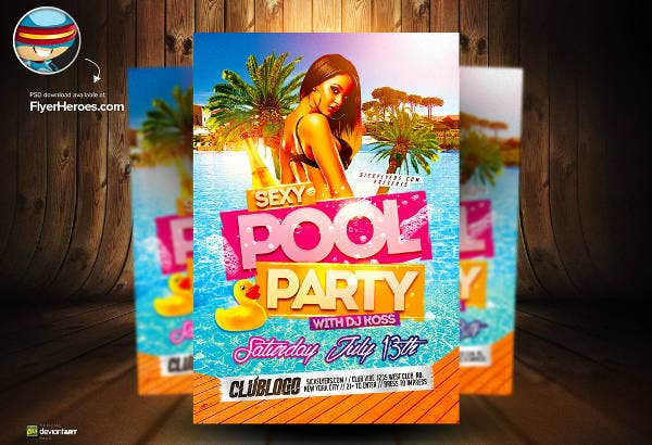 -Pool Party Event Flyer