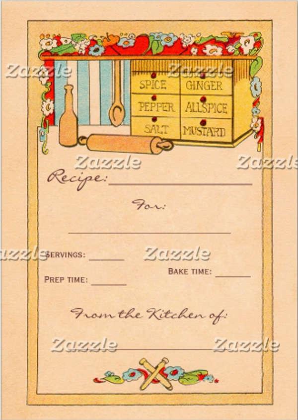 bridal shower recipe card box