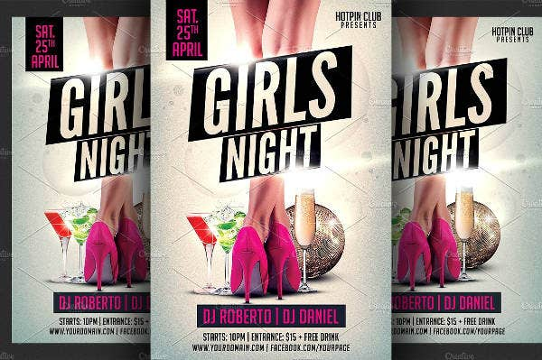 -Ladies Night Party Flyer