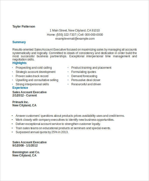 sle account executive resume 28 images senior account