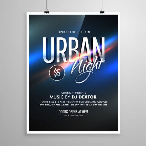 urban party music flyer