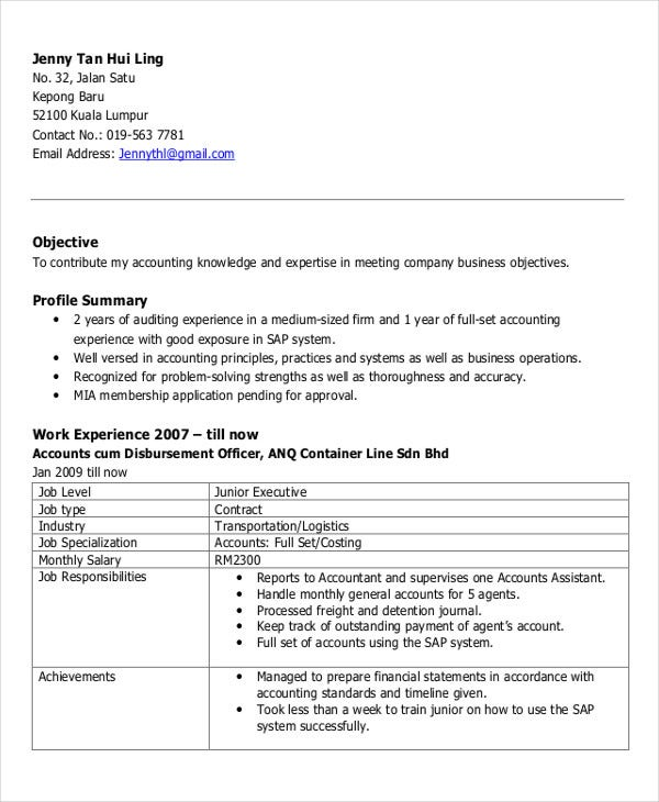 25 free executive resume templates pdf doc free premium