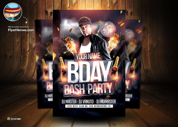 -Birthday Bash Party Flyer