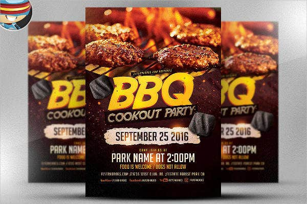 bbq cook out party flyer