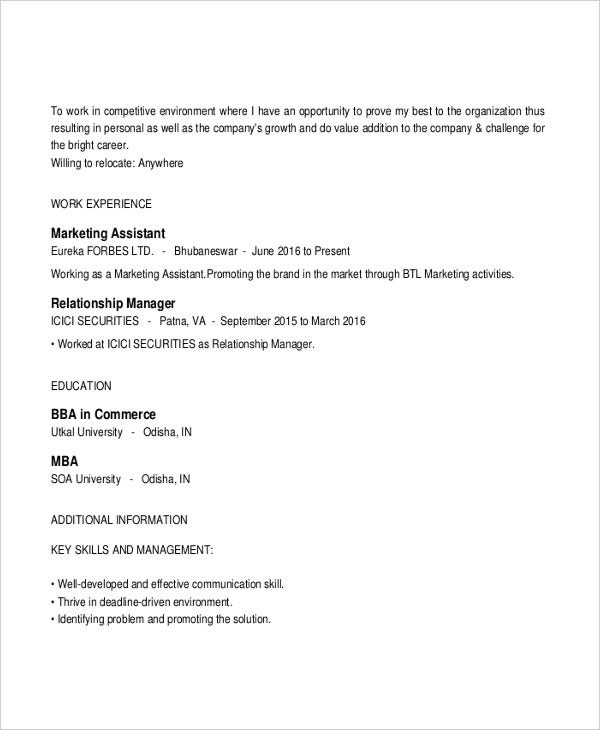Free Executive Resume Templates - 35+ Free Word, Pdf Documents