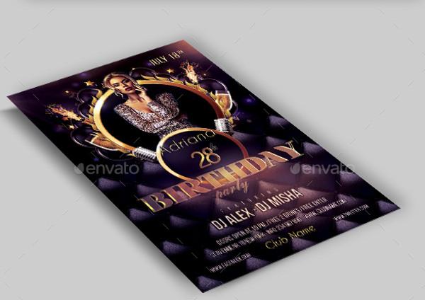 birthday party club flyer