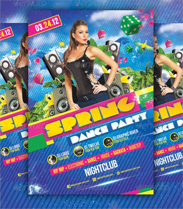 Spring Dance Party Flyer