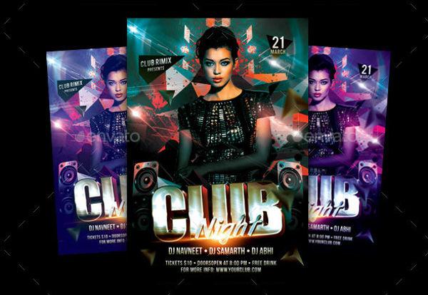 ladies club party flyer