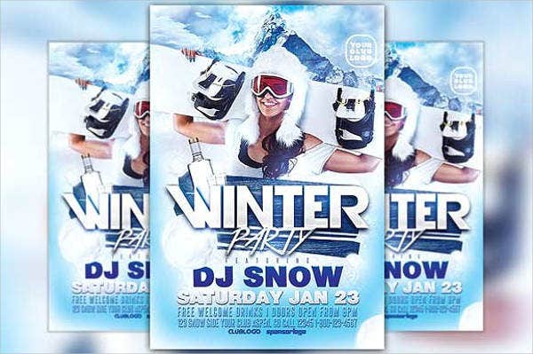 winter-party-menu-flyer