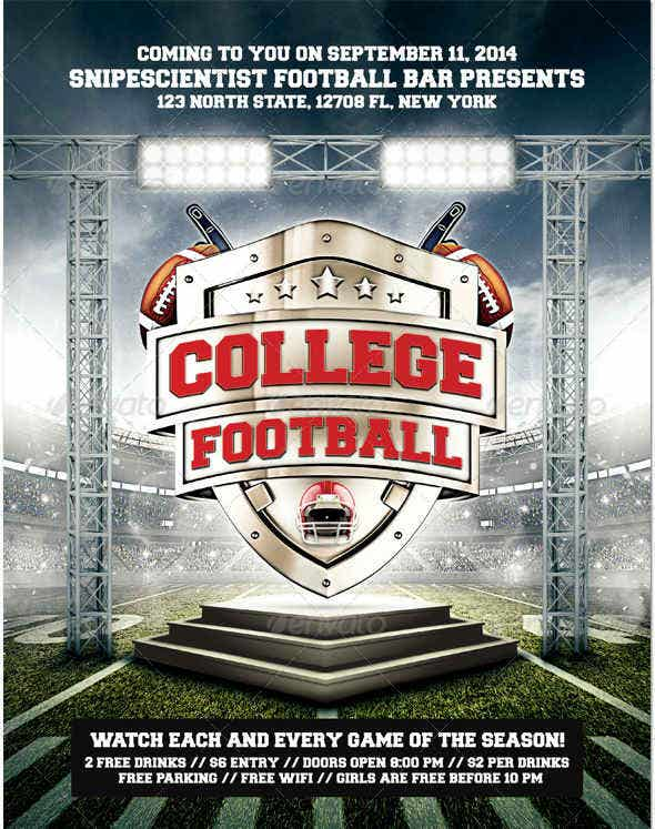 college-football-event-flyer