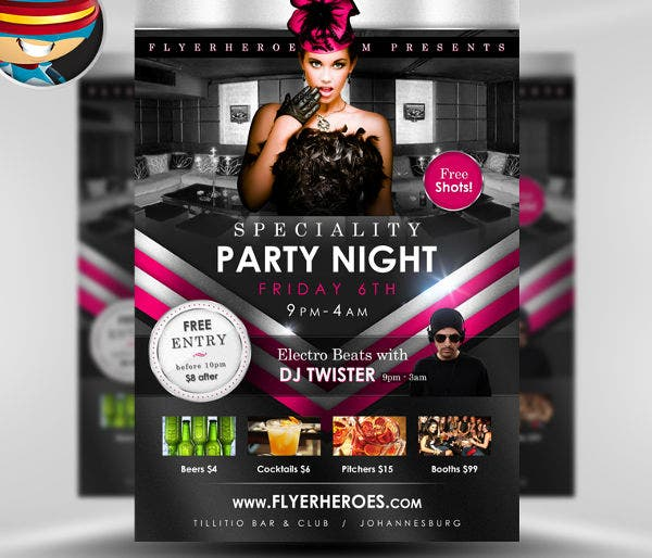 -Club Party PSD Flyer