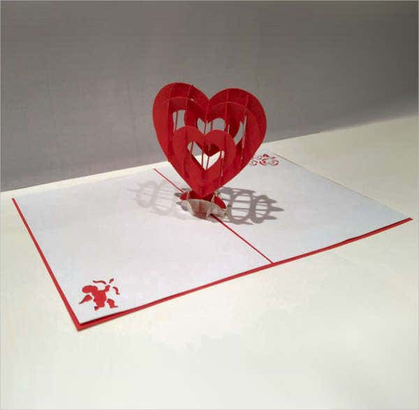 Pop Up Love Greeting Card