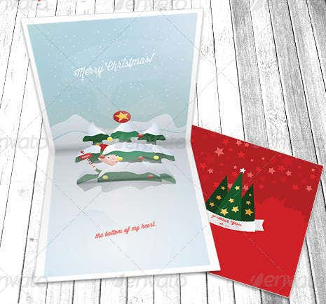 -Pop Up Holiday Greeting Card