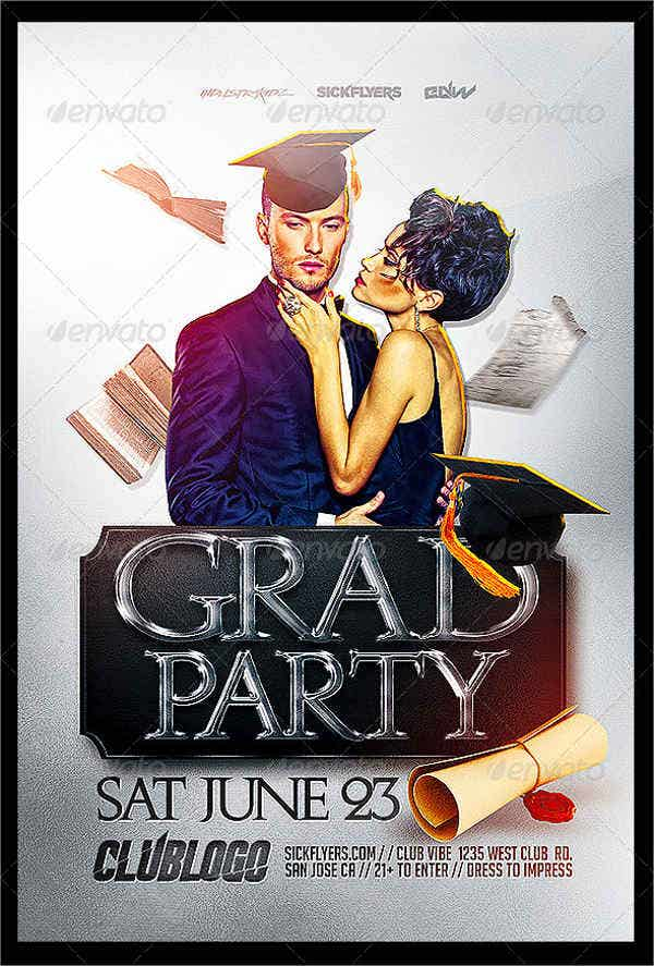 printable graduation party flyer