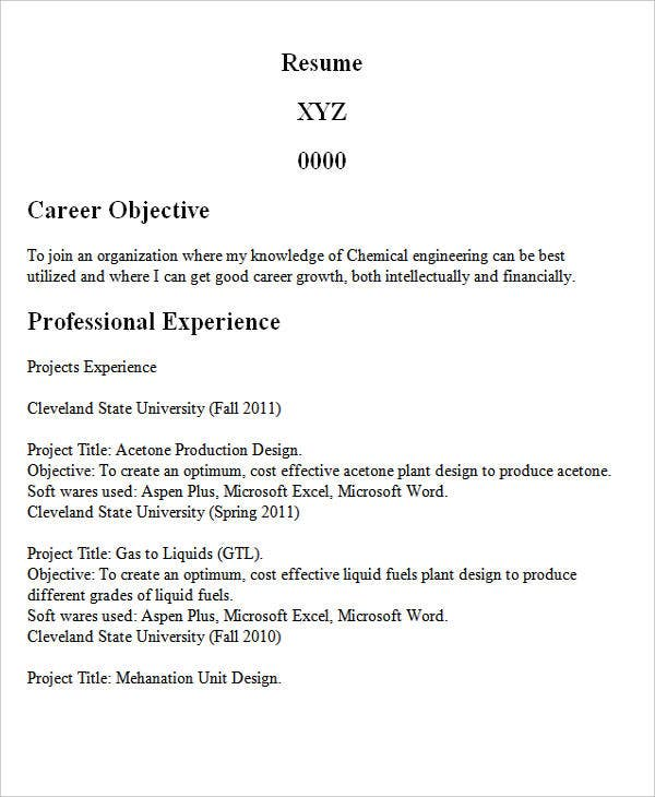chemical engineering graduate resume2