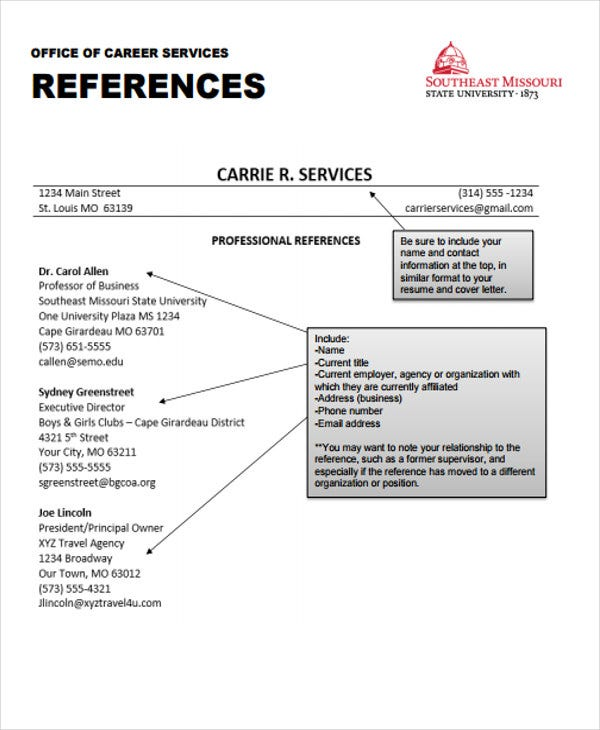 job resume reference format1