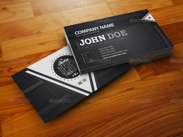 Modern Retro Business Card