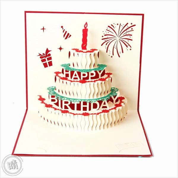 Lovely Pop Up Birthday Greeting Card Nice Look