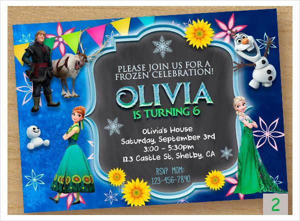 -Printable Frozen Birthday Card