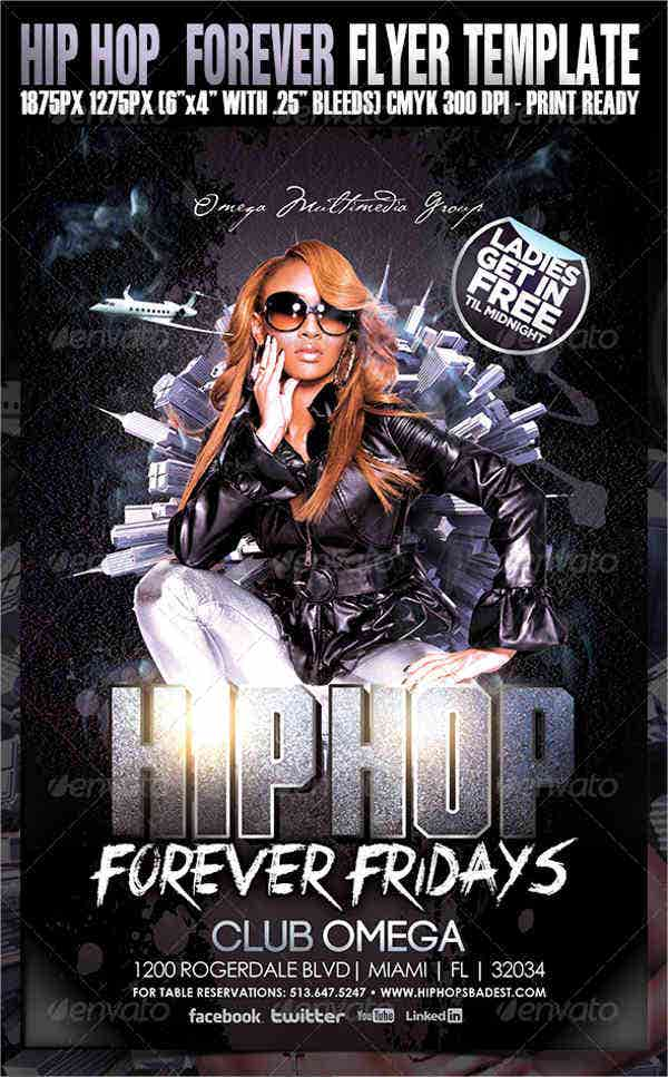 hip-hop-forever-party-flyer