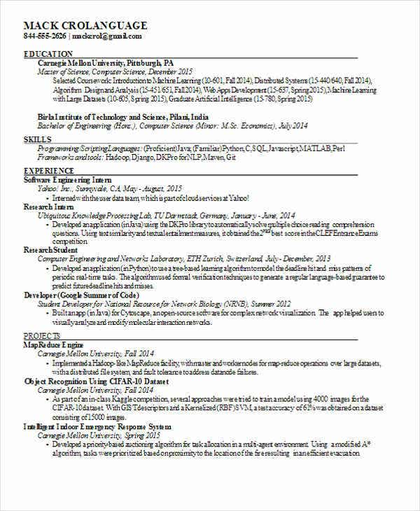 computer science engineering resume4