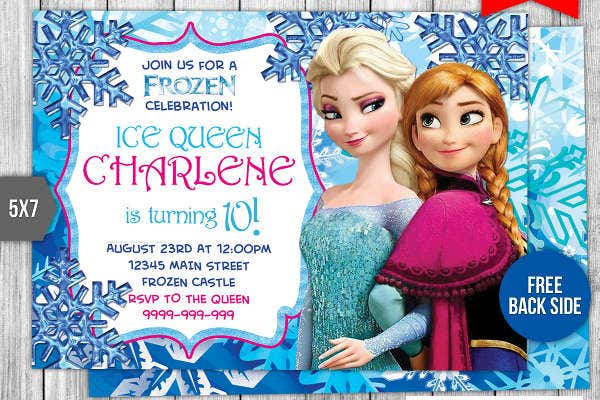 frozen birthday invitation card3