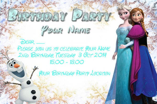 frozen happy birthday card2