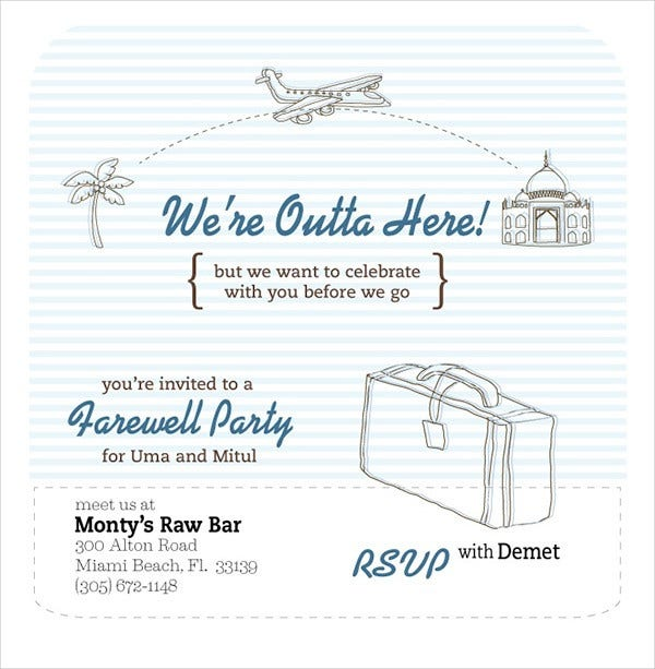 Farewell Party Invitation Flyer