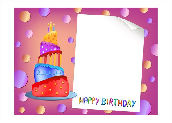 Printable Blank Birthday Card