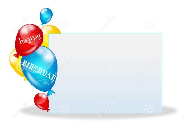 Birthday Card Templates Free Premium Templates - Blank birthday invitation card templates