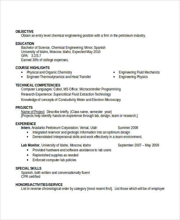 Engineering Resume Template - 36+ Free Word Documents Download