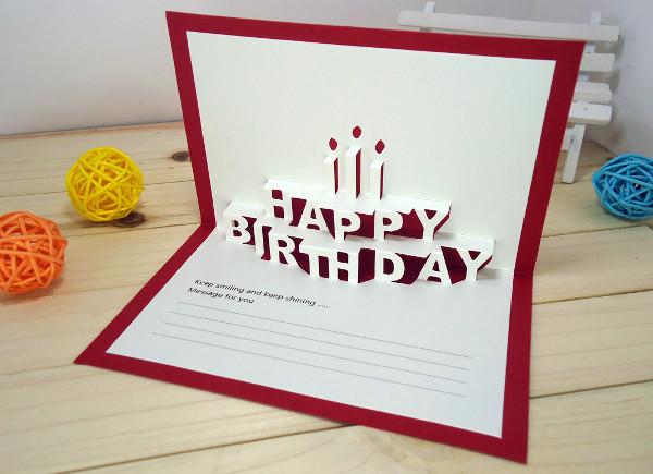 -Diy Pop Up Birthday Card