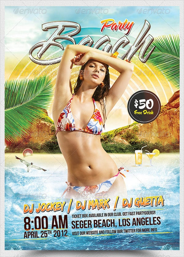 Beach Party A5 Flyer