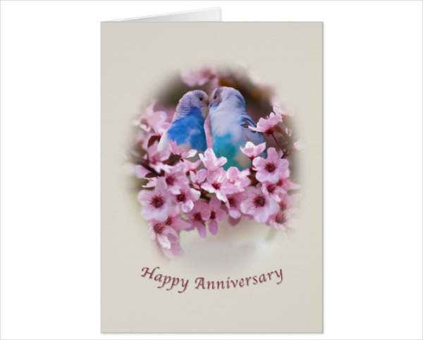 Animated Anniversary Greeting Card