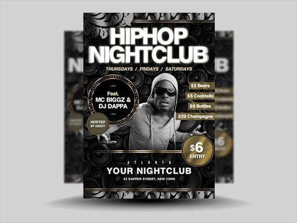 Hip Hop Nightclub Party Flyer