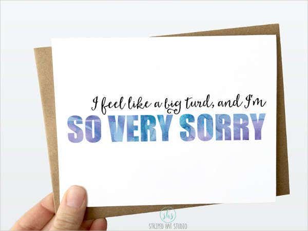 Animated Sorry Greeting Card