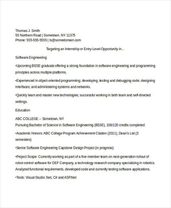 software engineering fresher resume2