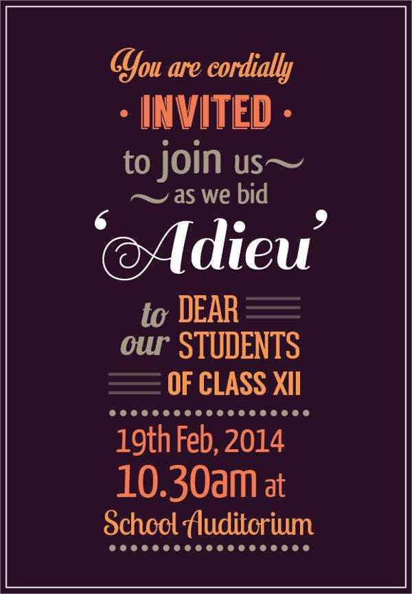72 Invitation Card Templates Free Premium Templates