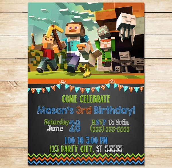 minecraft printable birthday card