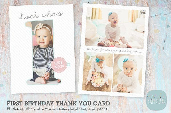 kids 1st birthday card