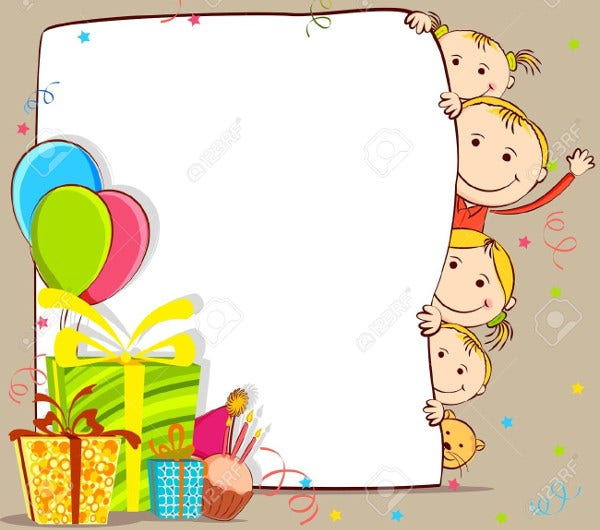 kids birthday gift card
