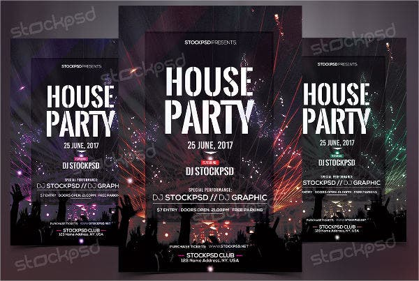 free-house-party-flyer