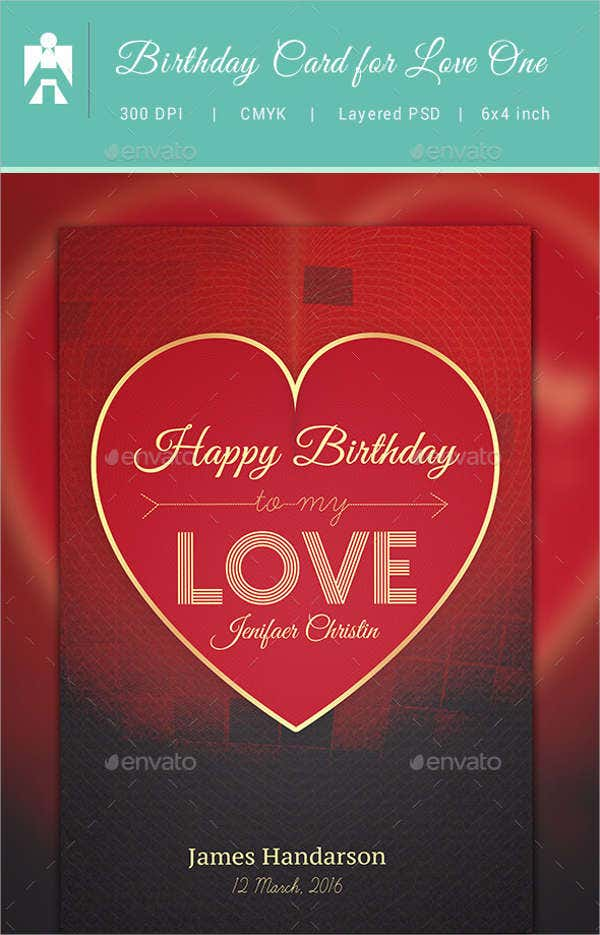 Love Letter Birthday Card