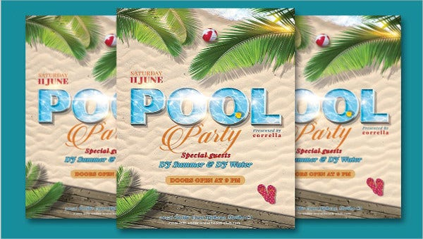 pool party invitation templates feature images