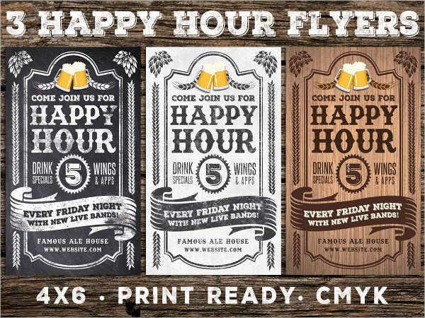 business happy hour flyer