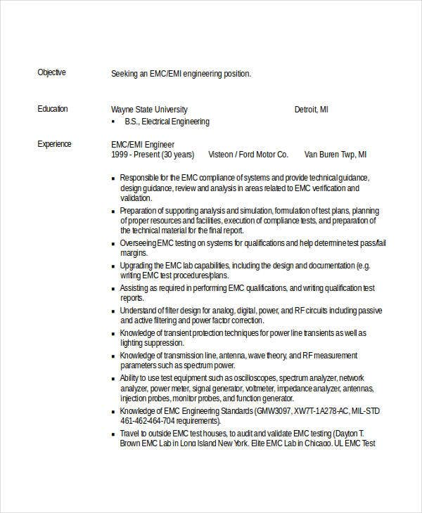 professional engineering resume example1