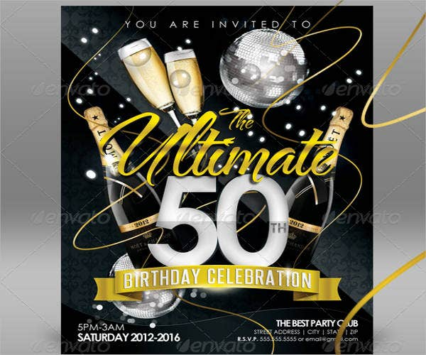50th birthday party flyer2