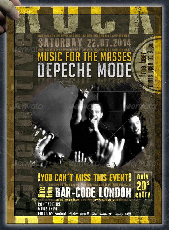 rock music event flyer1