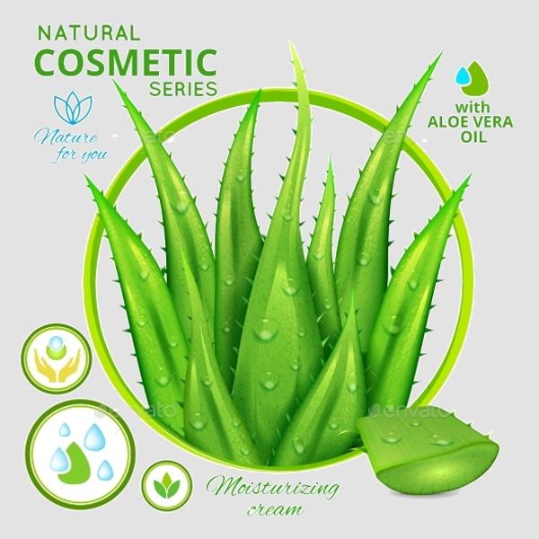 natural cosmetics advertisement poster